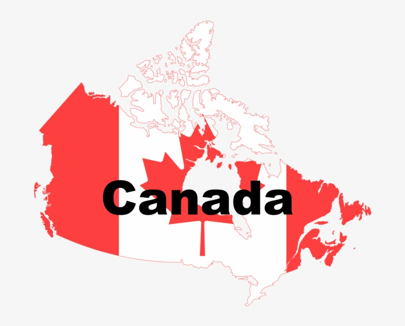 Canada Flag Map - Map Canada Png - 1000x582 PNG Download - PNGkit on