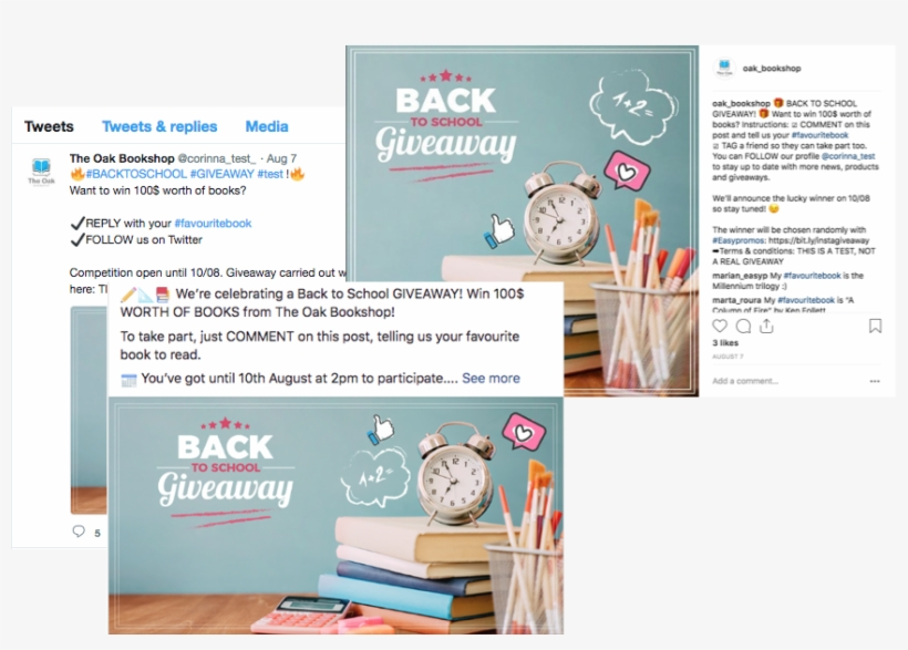 Multi-network Comments Giveaway On Facebook, Instagram