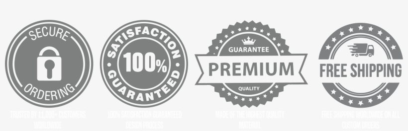 Free Shipping Trust Badges - 6339x1739 PNG Download - PNGkit