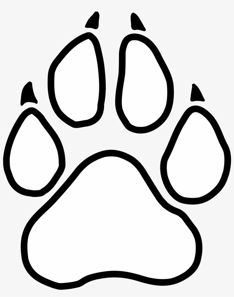 9b40979a0 Graphic of a little paw print panther paw print logo png png 820x1042  Vector jaguar paw. Download Image