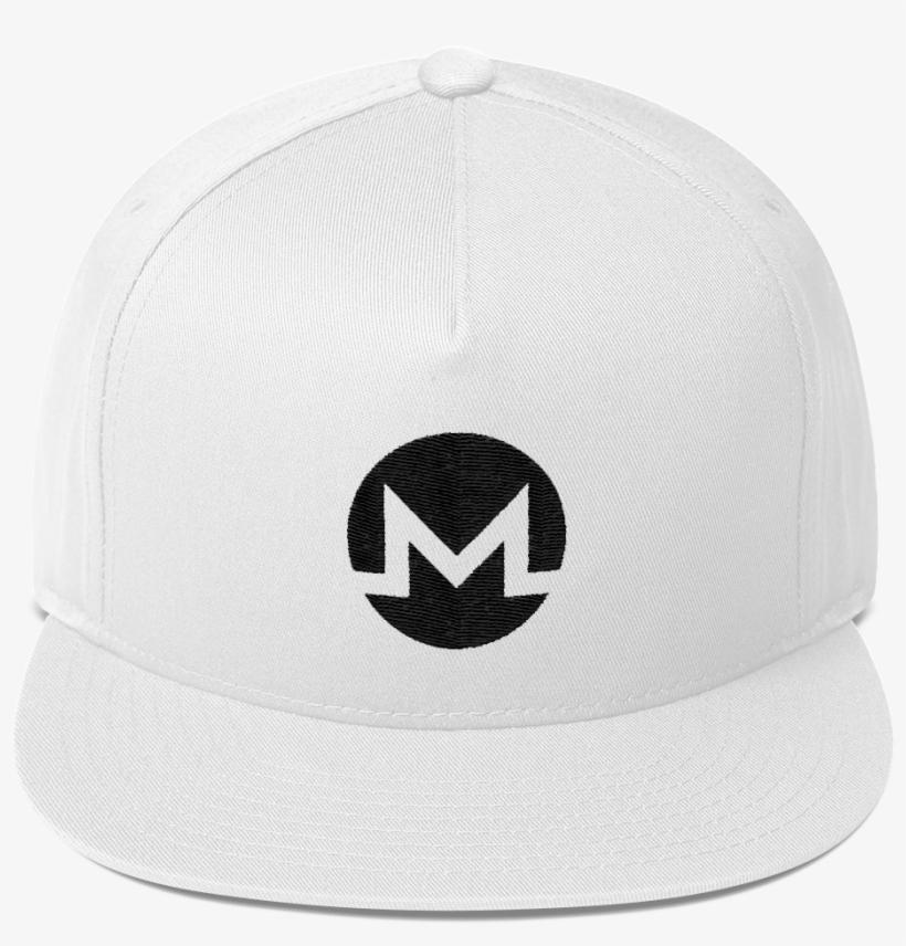 db7124b1191 Monero   Xmr B Snapback Hat White Crypto   Proud - Baseball Cap ...