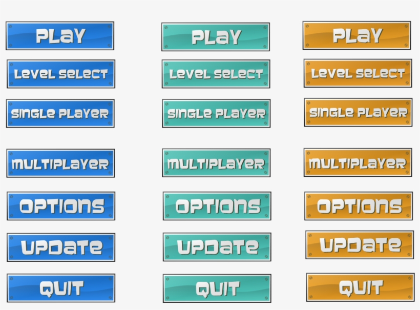Buttons With Hover For Your Game - Opengameart Button - 1142x840 PNG