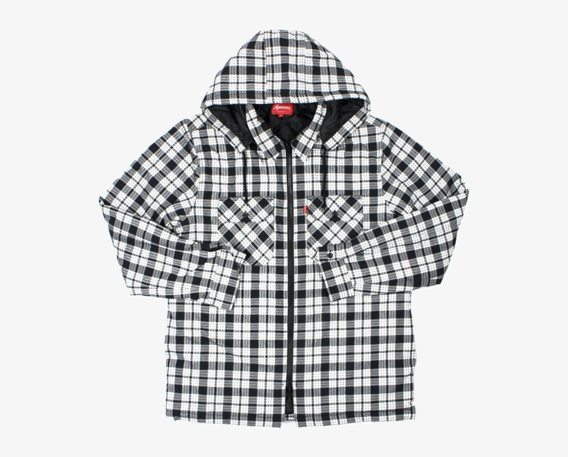 a86c53f5d29a8 Supreme Quilted Zip Flannel - Plaid - 598x598 PNG Download - PNGkit