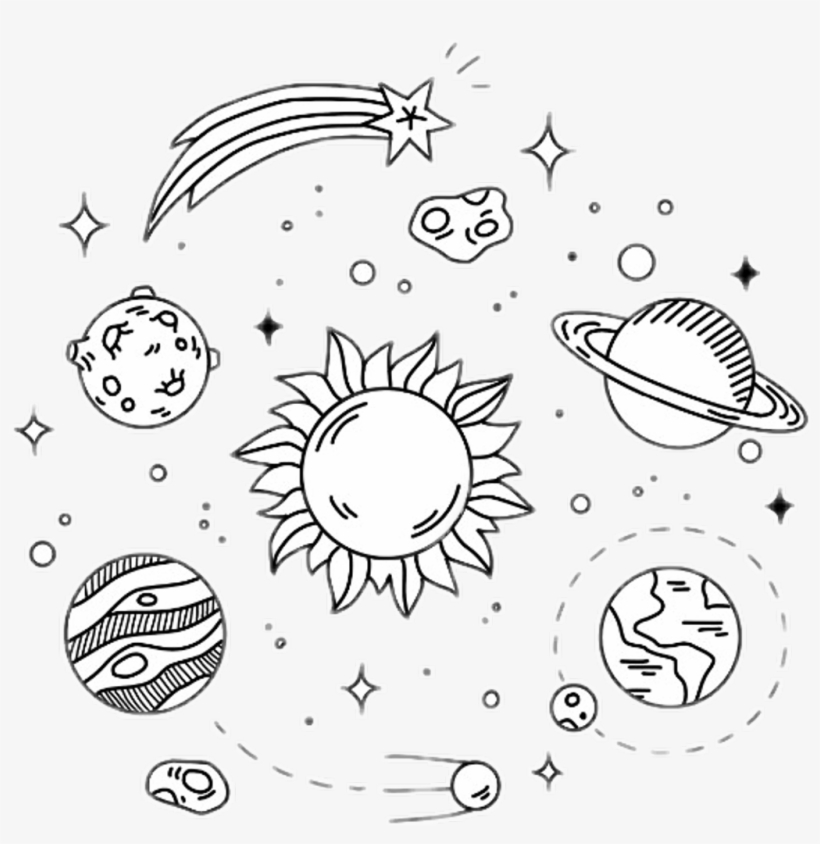 Not My Art Galaxy Outline Tumblr Aesthetic Space Drawing