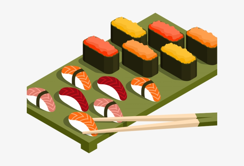 Japanese Food Clipart Cute Sushi Clipart Transparent 640x480 Png Download Pngkit