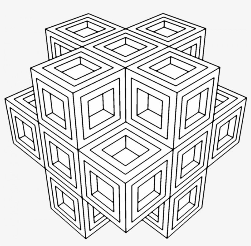 Coloring Pages Adult Pattern For Adults Young To Print - Sacred Geometry  Coloring Page - 850x792 PNG Download - PNGkit