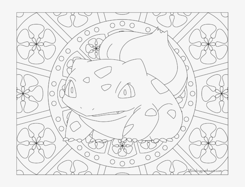 Adult Pokemon Coloring Page Bulbasaur Pokemon Coloring Pages For Adults 768x593 Png Download Pngkit