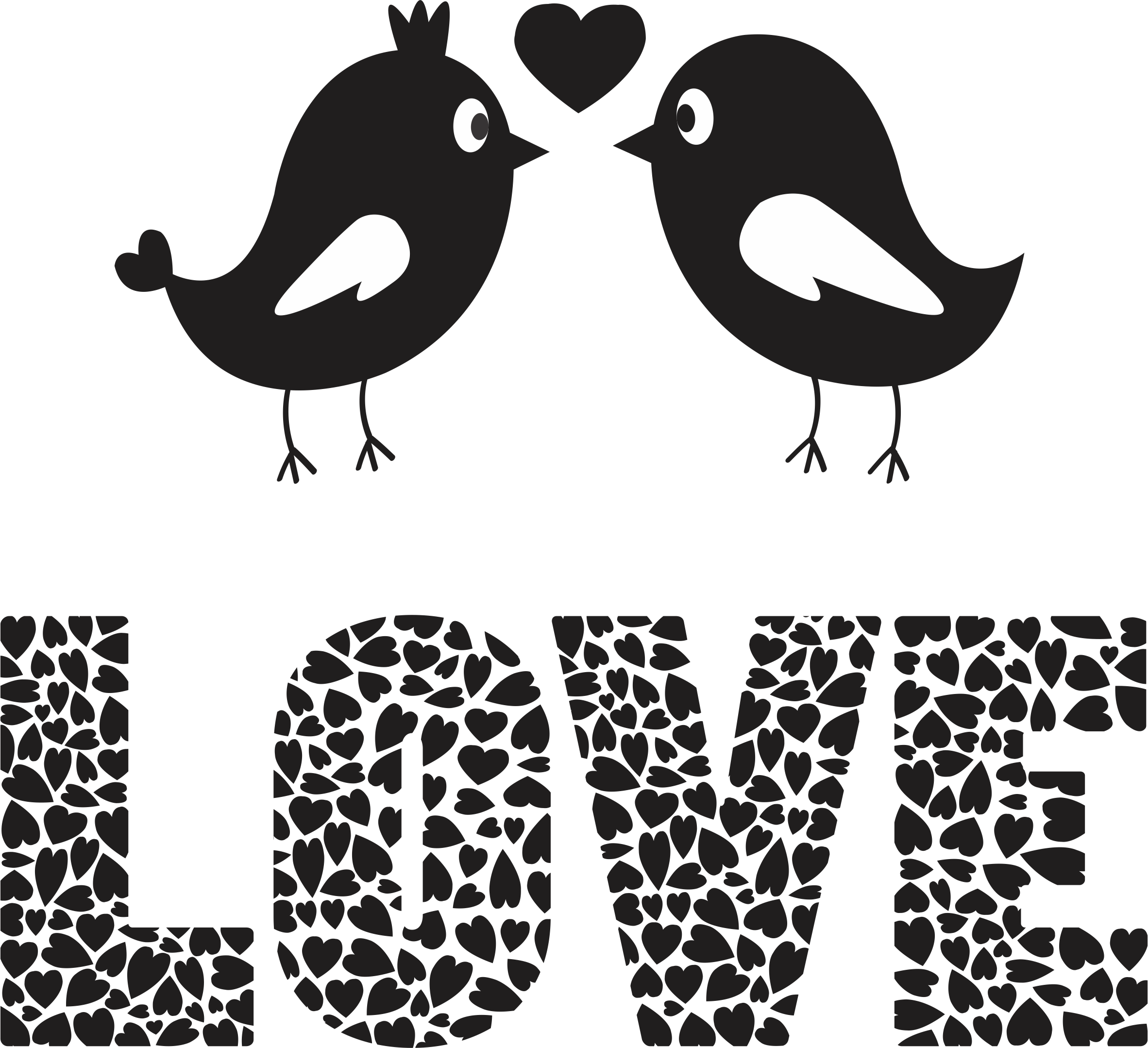 Download Love Birds Png Image Love Birds Black And White Full Size Png Image Pngkit