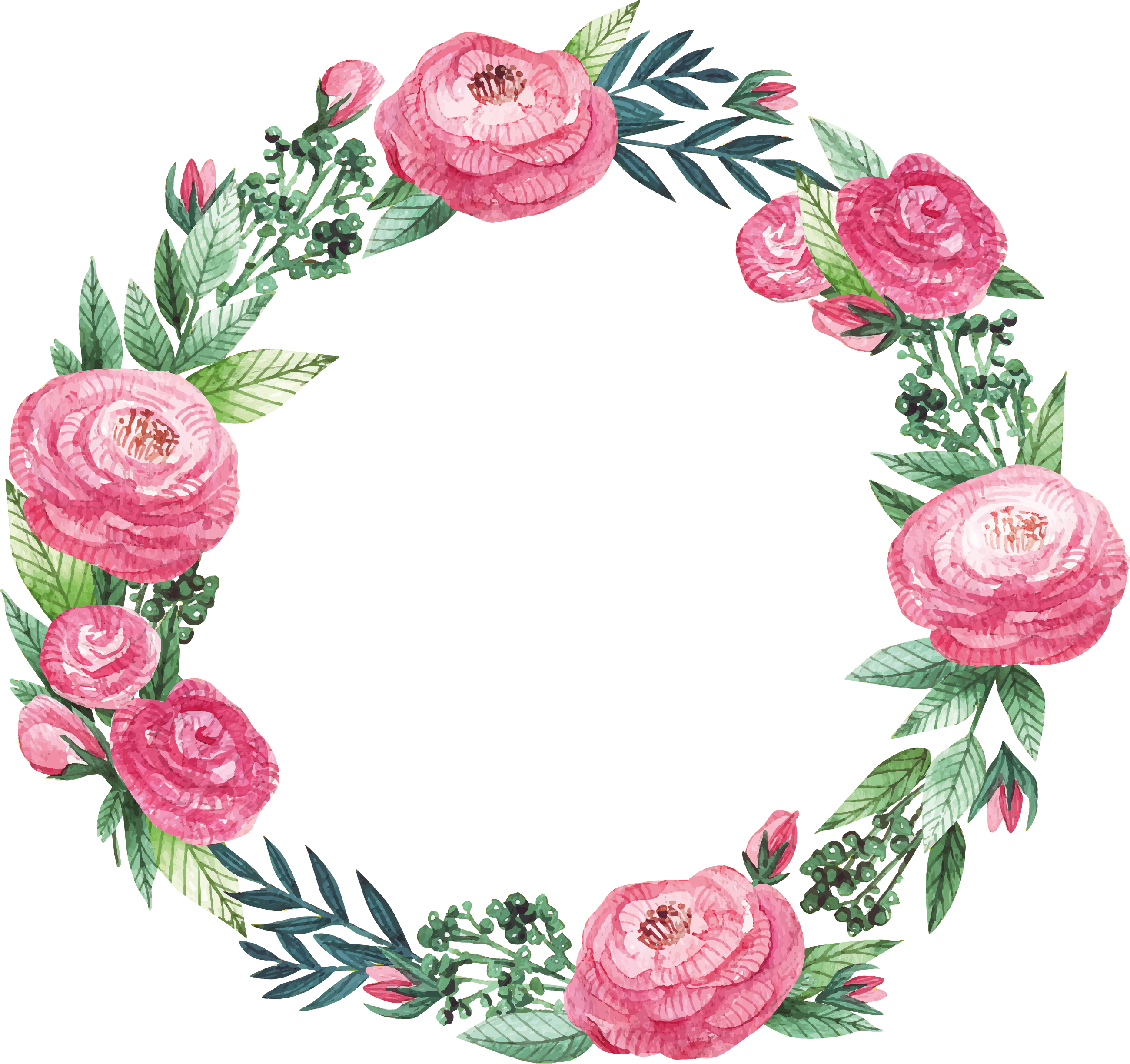 Download Graphic Royalty Free Download Floral Frame Clipart Pink