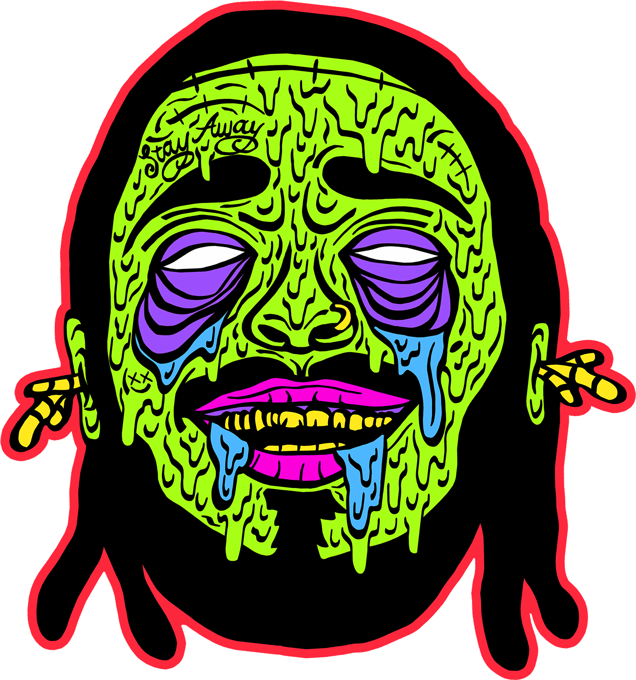 Download Zombie Post Malone T Shirt Full Size Png Image Pngkit