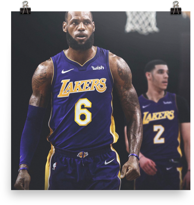 Download Laker Lebron In Your Face Lebron James La Lakers Full Size Png Image Pngkit