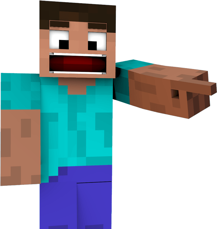 minecraft steve png hd