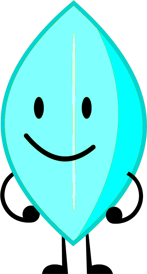 Download Snow Leafy - Bfdi Cursed - Full Size PNG Image - PNGkit