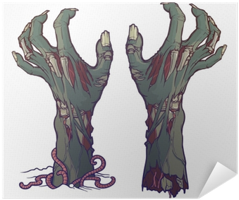 Download Pair Of Zombie Hands Rising From The Ground And ...
