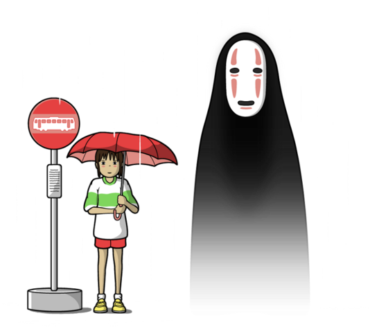 Download My Lonely Neighbor Spirited Away Cartoon Full Size Png Image Pngkit