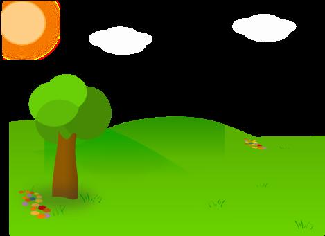 Download Nice Landscape Cartoon Clip Cartoon Garden Background Full Size Png Image Pngkit