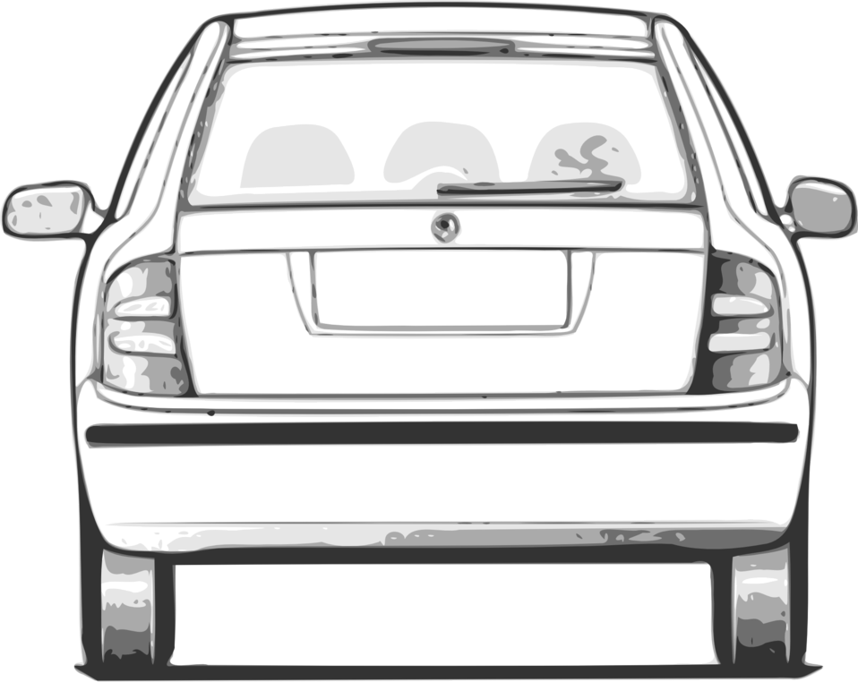 Download Clipart Cars Backside Car Drawing Back View Full Size Png Image Pngkit