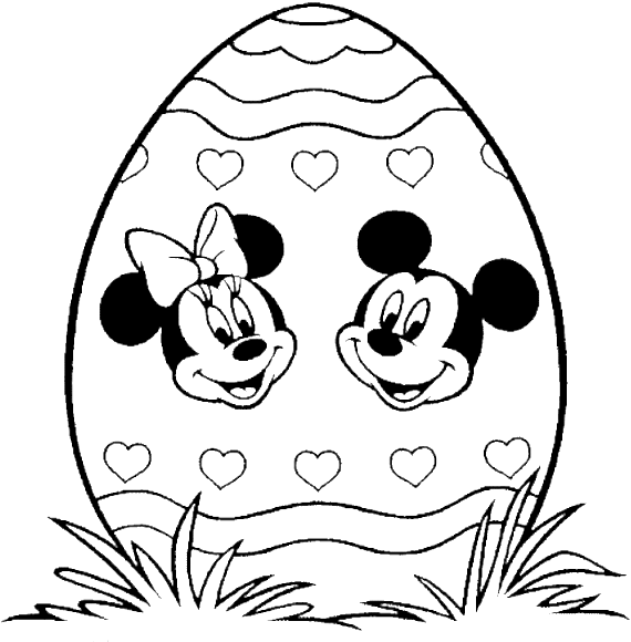 Download Mickey Mouse Face Coloring Pages Printable - Coloring Pages Minnie  Easter - Full Size PNG Image - PNGkit
