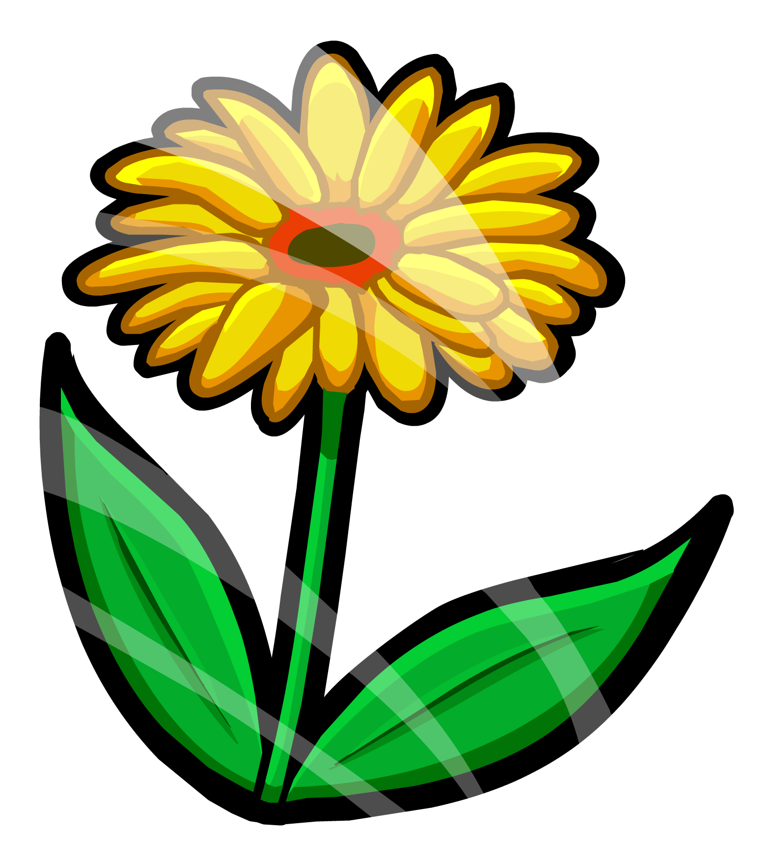 Download Spring Flower Pin Icon Flor Club Penguin Full Size