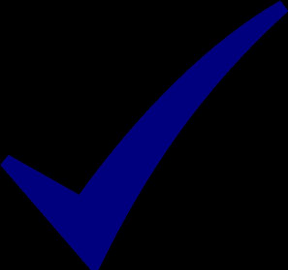 Download Blue Checkmark Png - Check Mark Symbol Blue - Full