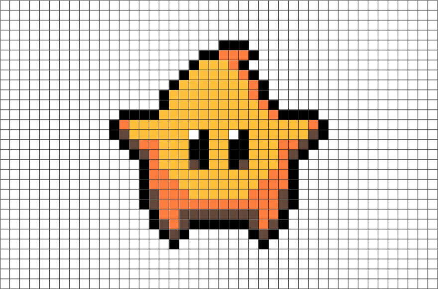 Download Pixel Art Mario Galaxy Full Size Png Image Pngkit