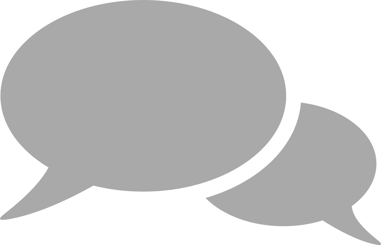 Conversation Icon Png For Kids - Grey Speech Bubble Icon (1280x824), Png Download