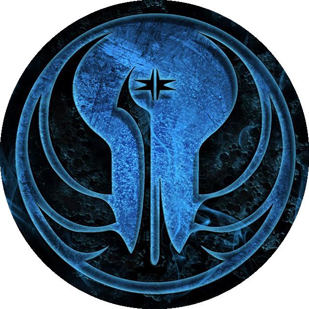 Download Jedi Order Logo Png - Star Wars Republic Symbol Blue - Full Size  PNG Image - PNGkit