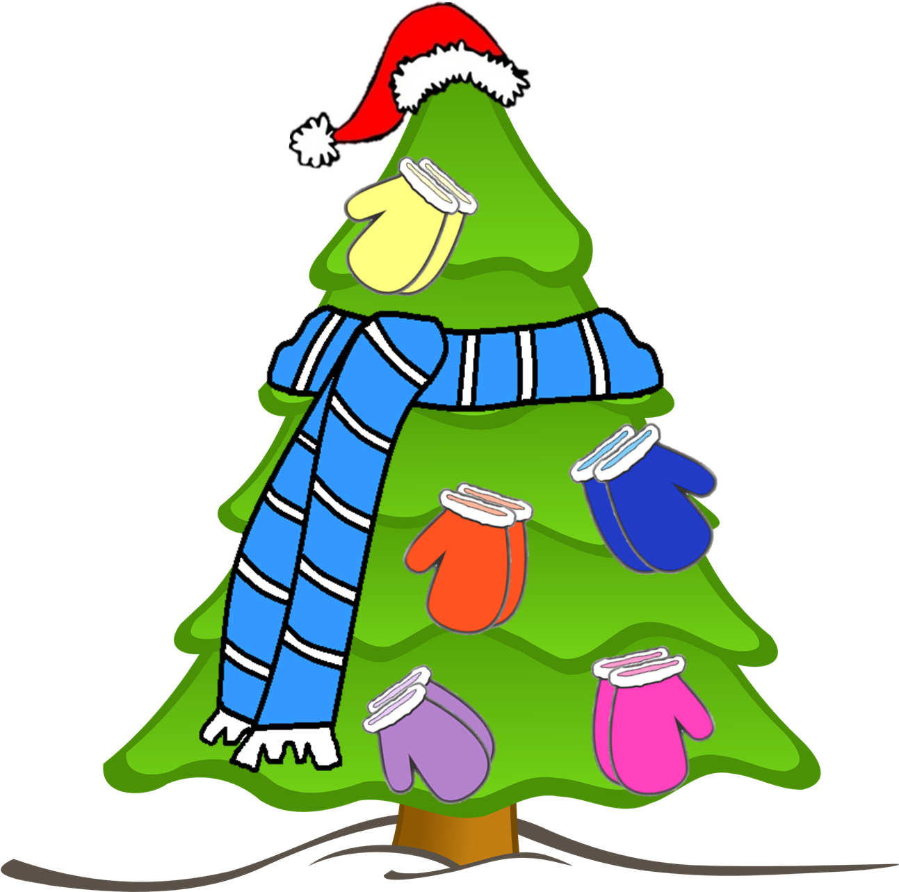 Download Transparent Background Christmas Tree Clipart Full Size