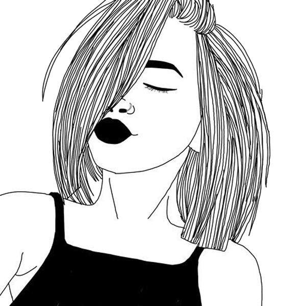 Download Tumblr Girl Drawing Transparencies Transparents