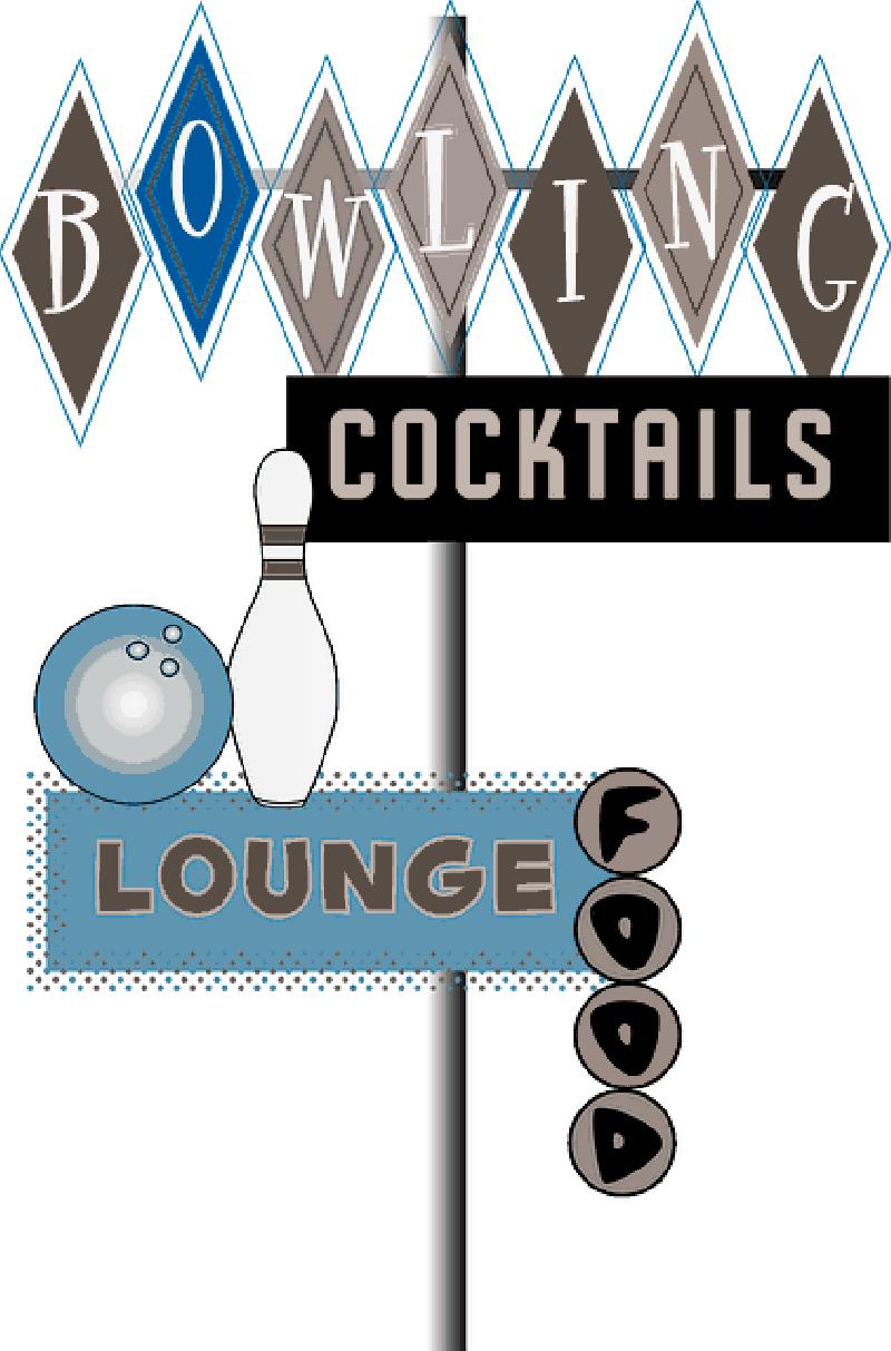 Download Food, Bowl, Lounge, Bowling, Cocktails,   70er