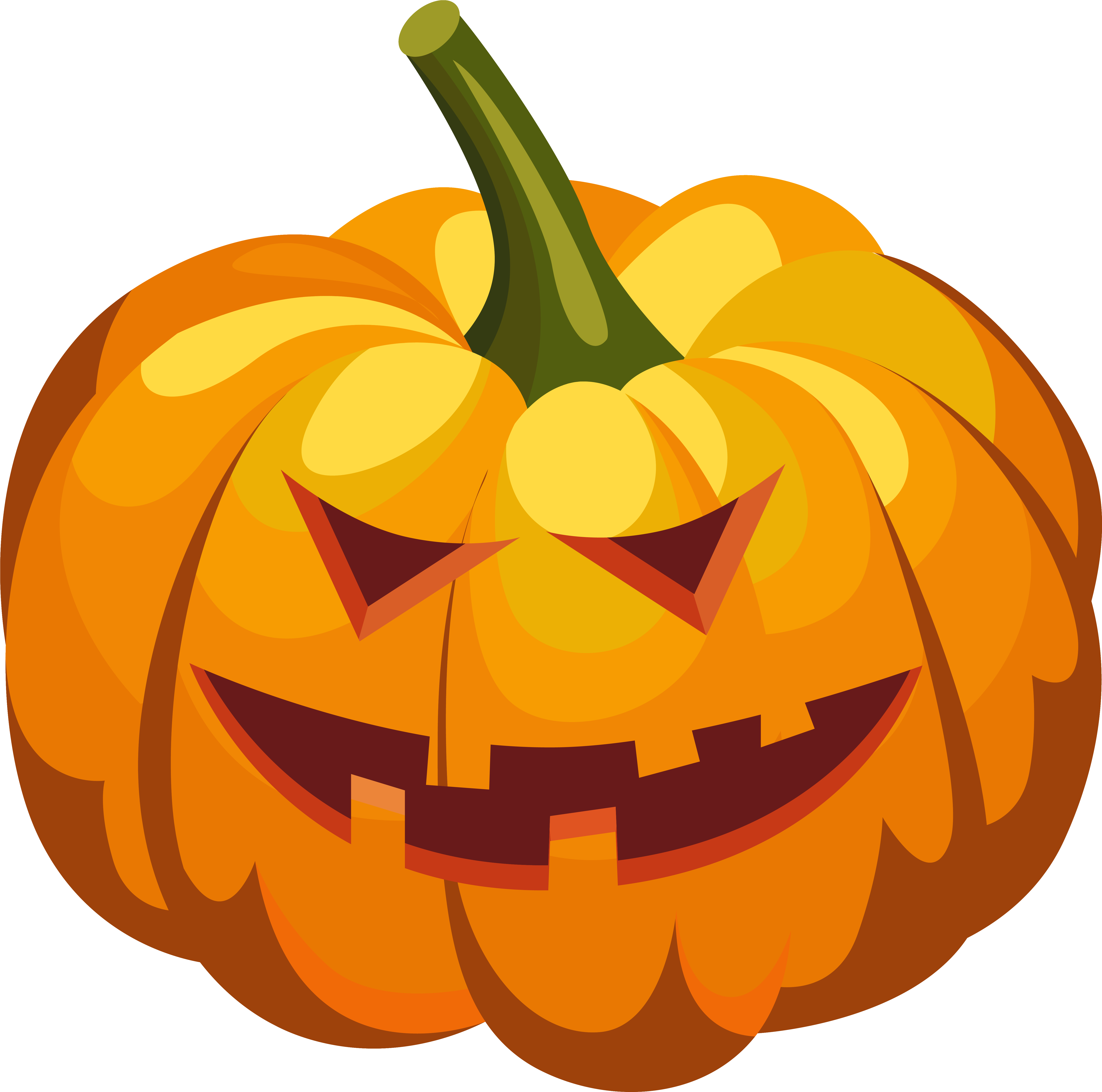 Download Halloween Pumpkin Png Scary Pumpkin Clipart Full Size Png Image Pngkit