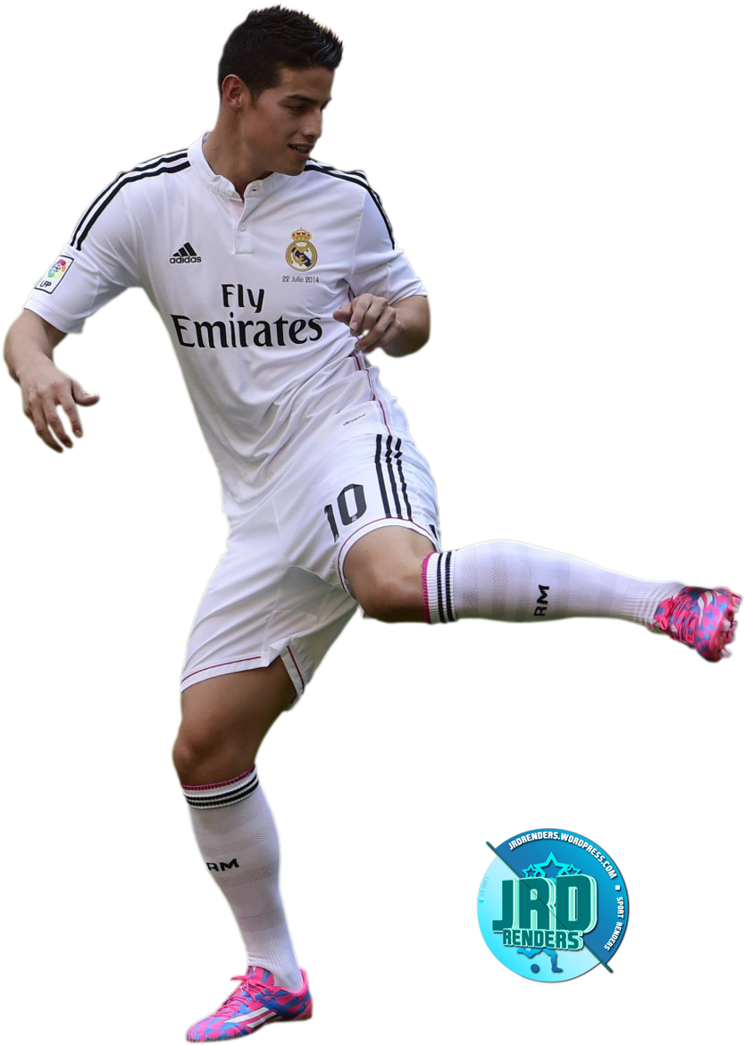 Download James Rodriguez Liga Bbva Real Madrid Render Deja Un Sports Full Size Png Image Pngkit
