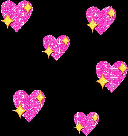 Download Love Hearts Glitter Pink Heart Emoji Png Gif Full Size Png Image Pngkit