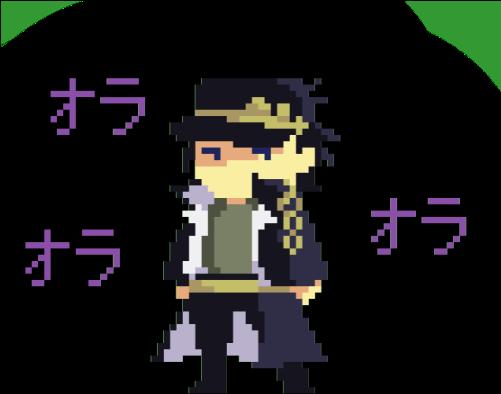 Download Kind Low Quality Pixel Doodle Of Jotaro I Did In School Jotaro Kujo Pixel Art Full Size Png Image Pngkit