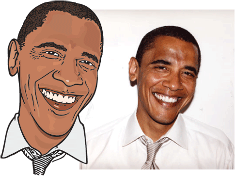 Download Photo To Cartoon Free Funny President Obama Cartoon Barack Obama White Shirt Full Size Png Image Pngkit