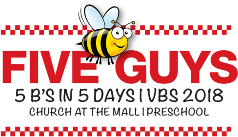 Download 5 Guys Preschool Vbs - Five Guys Logo White - Full Size PNG