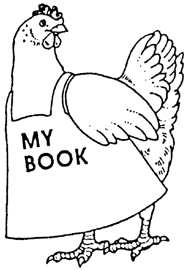- Download Zoom Chicken 'my Book' Rubber Stamp - Little Red Hen Coloring Pages  - Full Size PNG Image - PNGkit