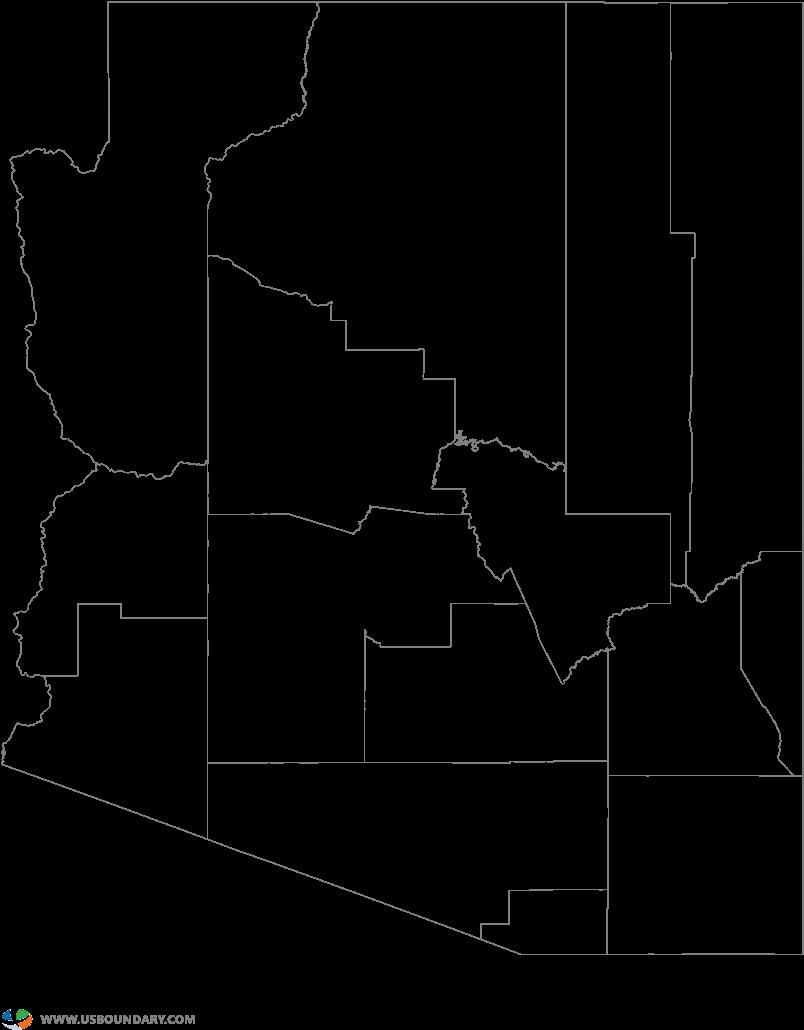 Arizona Map Of Counties.County Map Of Arizona