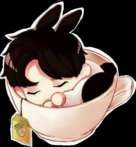 Download Png Cute Chibi Bunny Jungkookie Jungkookbts Bts Bangtan
