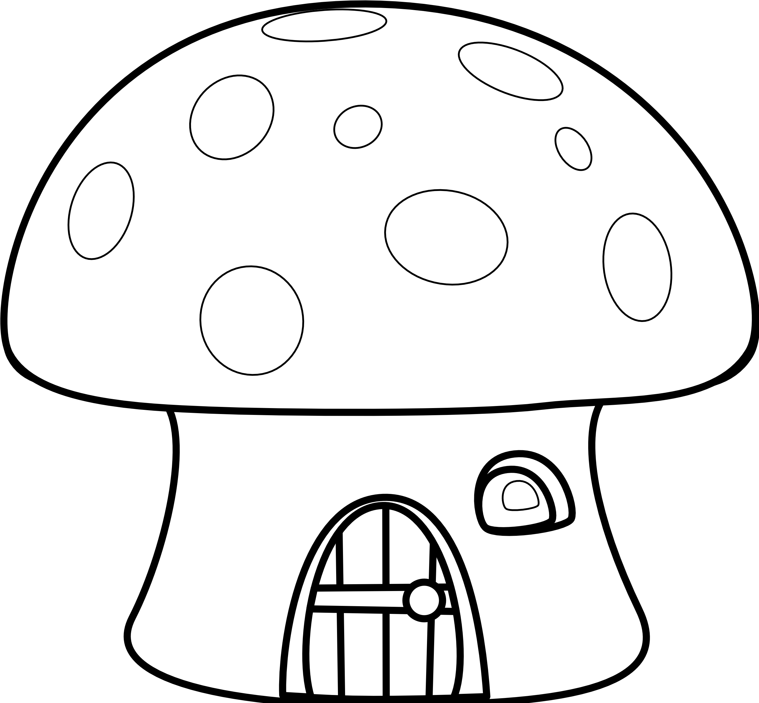 House black and white house black white clipart mushroom house coloring pages 2555x2374