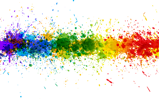 Download Transparent Rainbow Splash Line Background ...