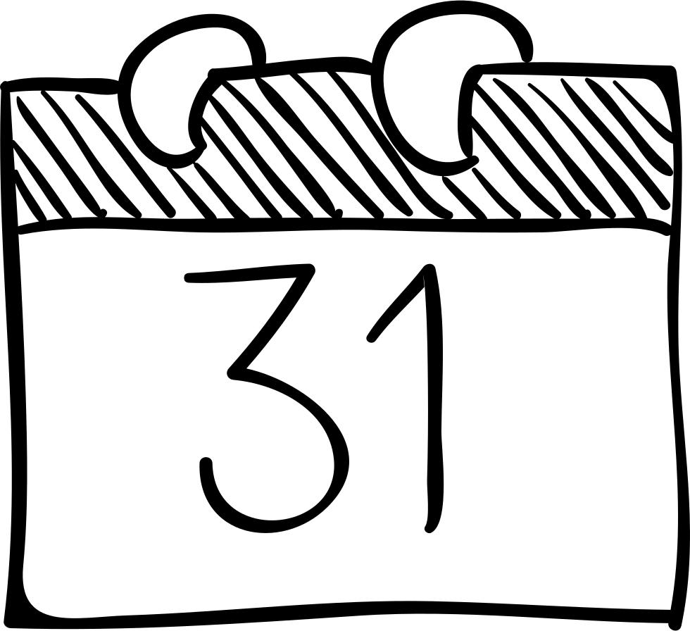 Download Halloween October 31 Calendar Page Sketch Comments Calendar Sketch Png Full Size Png Image Pngkit