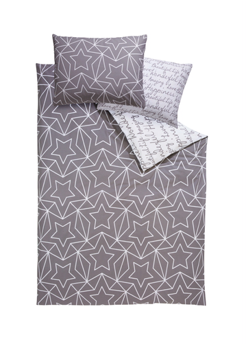 Download Queen Reversible Cotton Duvet Cover Graywhite Meradiso