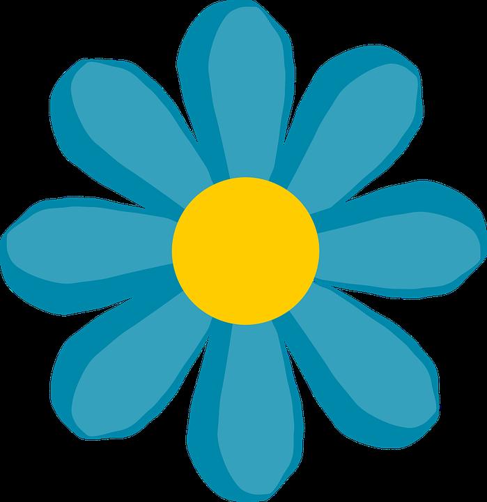 Download Blue Flower Clip Art Free Vector - Flower Clip Art - Full Size PNG  Image - PNGkit