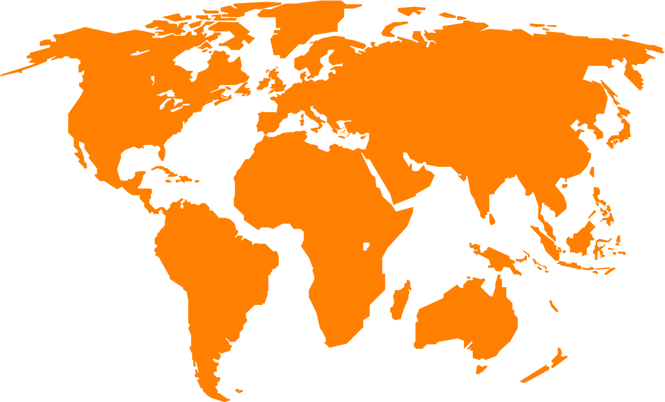 Download 100 World Map Vector Orange Web Apostolic Mission Of