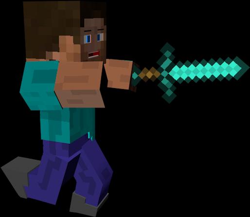 Download Iron Steve Minecraft Skins Minecraft Diamond Sword Full Size Png Image Pngkit
