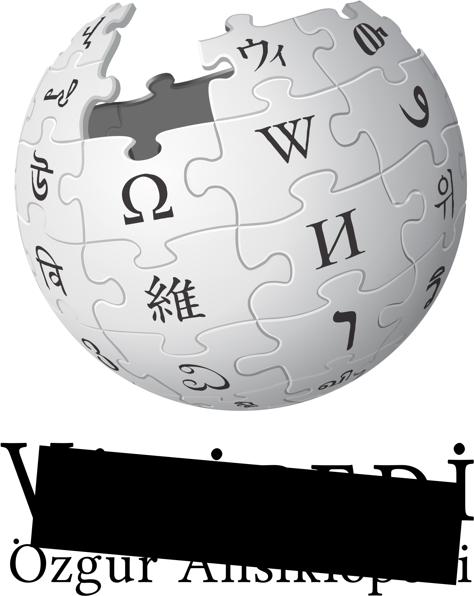 Download The Turkish Wikipedia Logo With A Censor Bar Covering