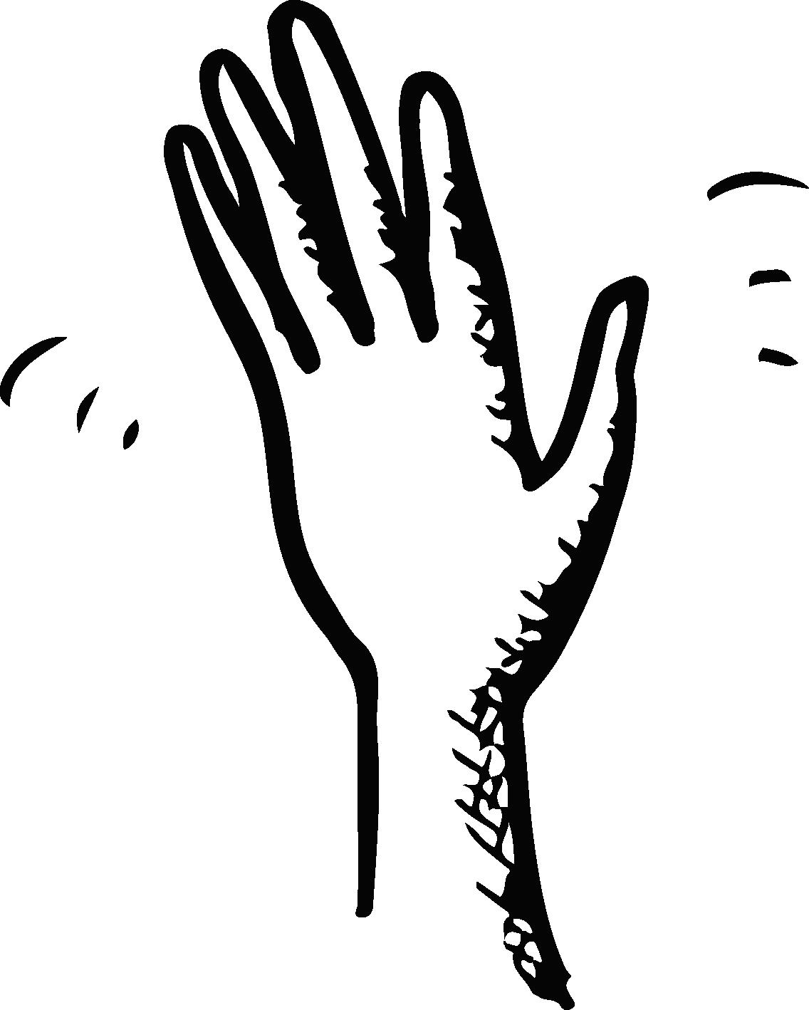 hand waving clipart - HD1136×1418