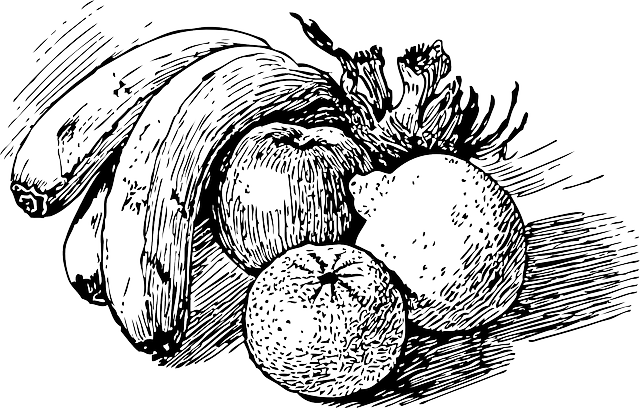 Download Black Food Bowl Fruit Outline Drawing Sketch Stories By English Authors England Full Size Png Image Pngkit