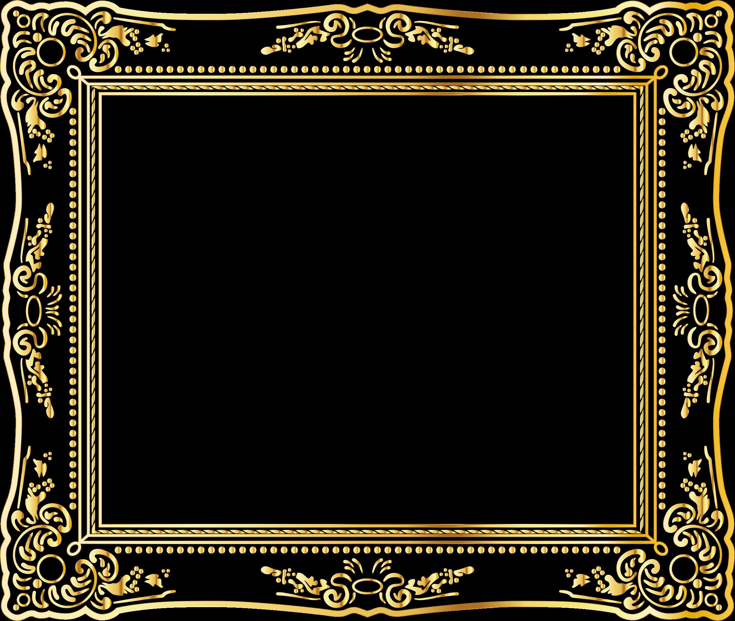 Download Medium Image - Vintage Gold Frame Png - Full Size ...